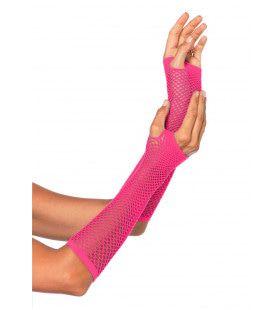 Visnet Vingerloze Handschoenen Roze