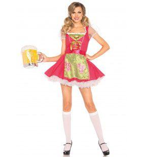 Rode Oktoberfest Dirndl Vrouw Kostuum