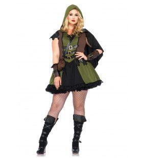 Sexy Vrouwelijke Robin Hood Jurk (Plus Size)