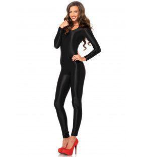 Spandex Erotische Catsuit Zwart Vrouw Kostuum