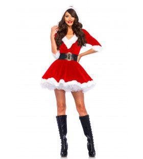 Feestelijke Aantrekkelijke Kerstvrouw Jurk