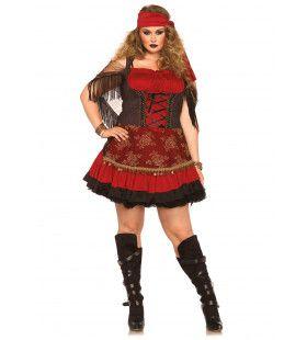 Zigeunerin Uit Stoute Droom (Plus Size) Vrouw Kostuum