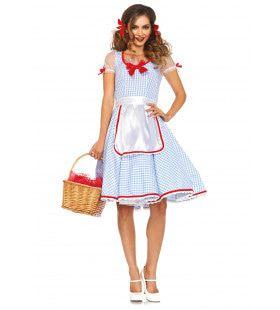 Amerikaanse Schattige Dorothy Van Oz Vrouw Kostuum