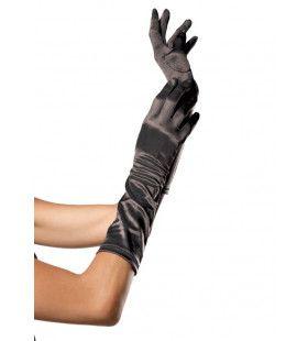 Satijnen Handschoenen Tot Elleboog Zwart