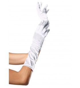 Satijnen Handschoenen Tot Elleboog Wit