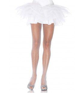 Visnet Panty Met Glitter Elasthaan Wit