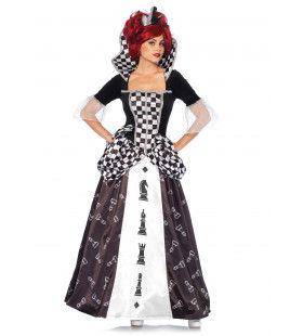 Alice In Wonderland Chess Queen Schaak Koningin Vrouw Kostuum