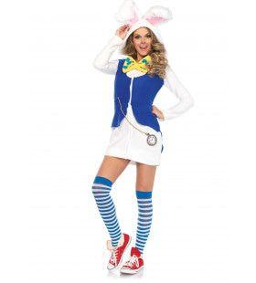 Spontaan Konijn Alice In Wonderland Vrouw Kostuum