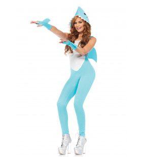 Spannend Haaienpak Dame Vrouw Kostuum