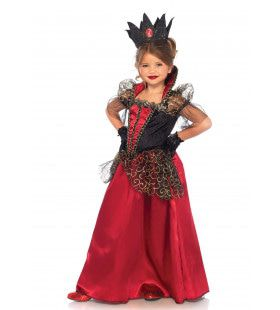 Koninklijke Koningin Meisje Kostuum