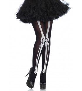 Panty Met Skeletbotten Zwart