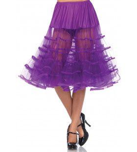 Knielange Petticoat Twist Donker Paars