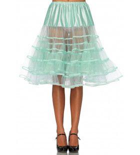 Knielange Petticoat Twist Licht Groen