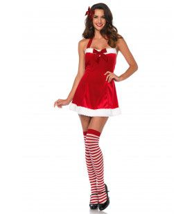 Charmante Assistente Van De Kerstman Vrouw Kostuum