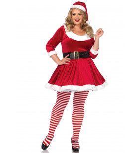 Jinglebells Kerstvrouw Plus Size Kostuum