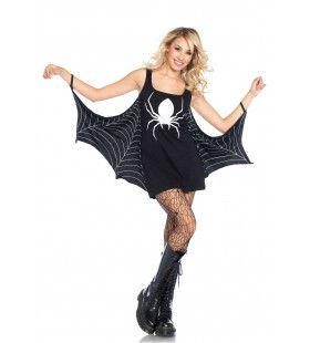 Spinnenweb Tuniek Vrouw Kostuum