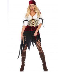 Meedogenloos Mooie Piraat Vrouw Kostuum