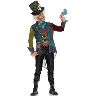 Idioot Mad Hatter Man Kostuum