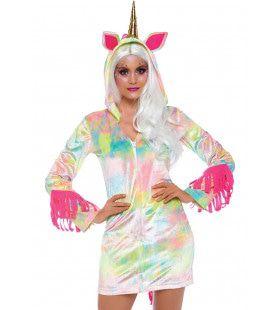 Betoverende Fantasie Eenhoorn Pastel Vrouw Kostuum