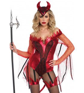 Sexy Sater Vagevuur Vrouw Kostuum