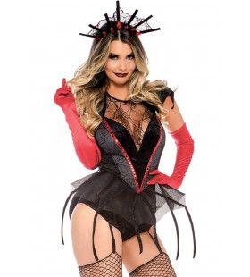 Spinnen Koningin Tarantulia Vrouw Kostuum