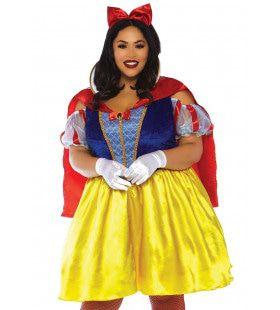 Gezonde Ronde Appel Sneeuwwitje Plus Size Vrouw Kostuum