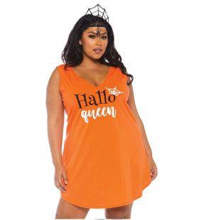 Halloween Hallo Queen Plus Size Vrouw Kostuum