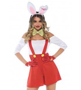 Tuinbroek Konijn Keurige Bunny Vrouw Kostuum