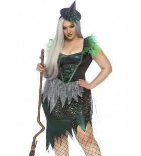 Ondeugende Boze Heks Gevallen Ster Plus Size Vrouw Kostuum