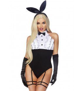 Sexy Smoking Konijn Playboy Vrouw Kostuum