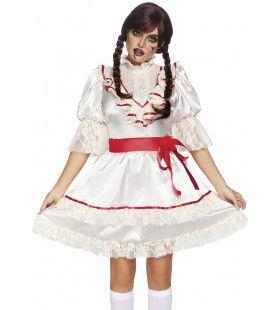 Schattige Bezeten Behekste Pop Vrouw Kostuum