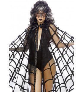 Ingesponnen In Een Reuzeweb Spinnen Cape Vrouw