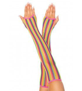 Lange Regenboog Visnet Vingerloze Handschoen