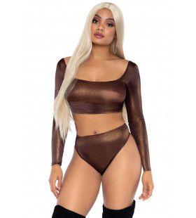 Bronzen Sexy Superster Vrouw Kostuum