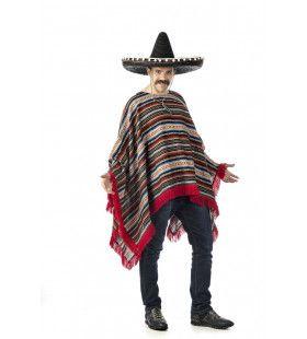 Luxe Mexicaanse Poncho Arthuro Man Kostuum