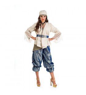 Rijke Verleidelijke Oosterse Pirate Golf Van Aden Vrouw Kostuum