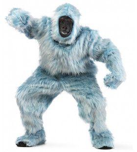 Lichtblauwe Bos Gorilla Man Kostuum