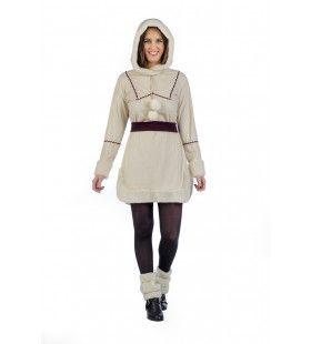 Koude Benen Warme Enkels Eskimo Vrouw Kostuum