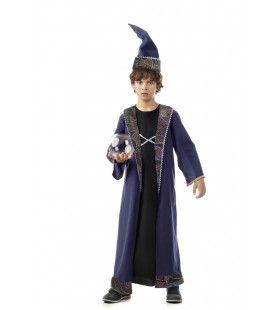 Machtige Tovenaar Zweinstein Merlijn Jongen Kostuum