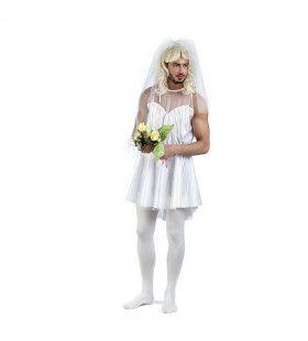 Niet Al Te Aantrekkelijke Partij Bruid Man Kostuum