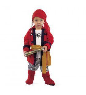 Kraaiennest Piraat Buit In Zicht Jongen Kostuum