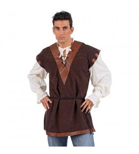 Overhemd Met Wambuis Middeleeuwse Knecht Man Kostuum