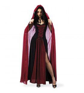 Bloedrode Cape Venijnige Vampier Vrouw