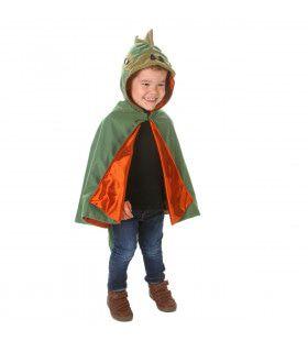 Cape Gruwelijk Groene Dinosaurus Kind Kostuum