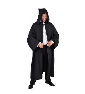 Aristocratische Cape Zwarte Dood Man Kostuum