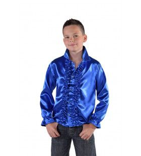 Niet Hakken Maar Dansen Ruches Blouse Blauw Jongen