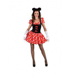 Tekenfilm Muis Minnie Vrouw Kostuum