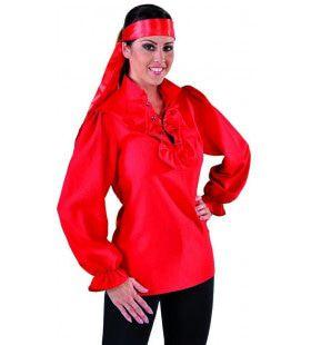 Blouse Piraat Rood Als Bloed Vrouw