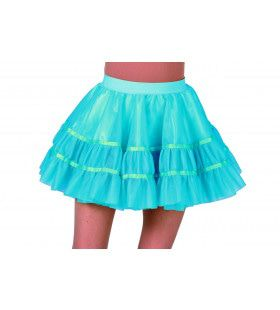 Rockabilly Petticoat Turquoise Vrouw
