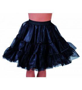 Jaren 50 High School Petticoat Zwart Vrouw